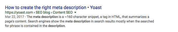 Meta descriptions in  the other search engines