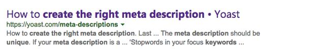 Generating meta description by Bing