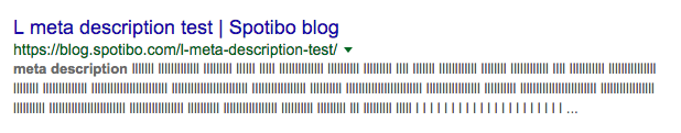 Meta description length test
