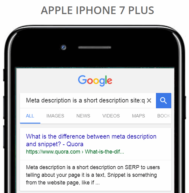 Meta description length for mobile devices